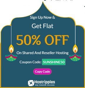 Hostripples Coupon 50% OFF