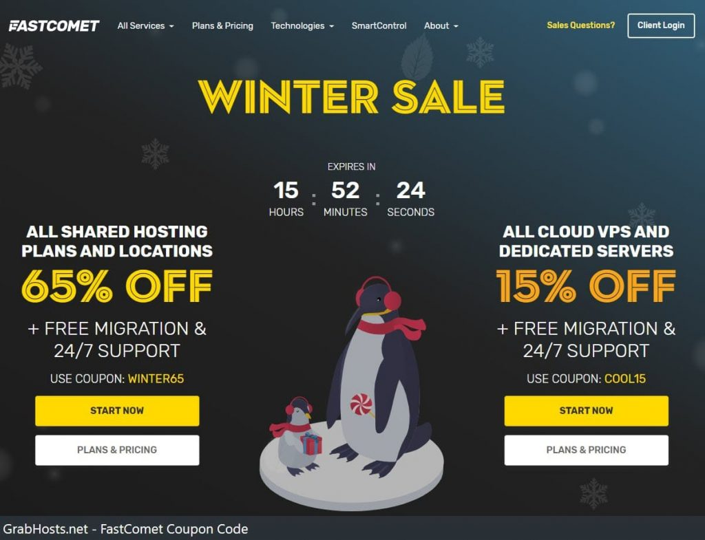 FastComet Winter Sale