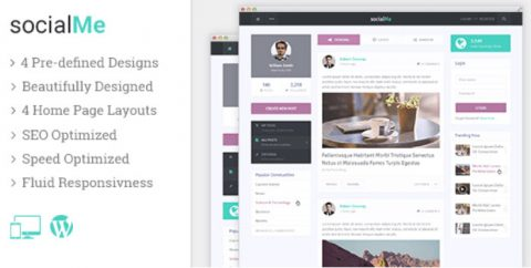 SocialMe MyThemeShop Theme