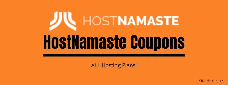 HostNamaste Coupons