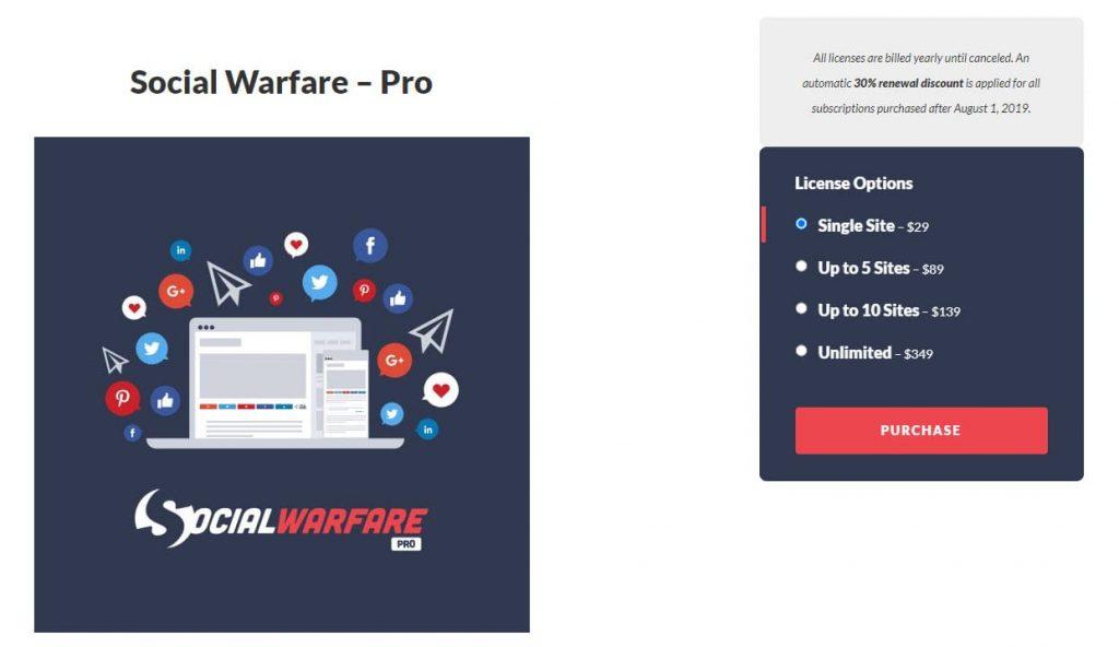 Social Warfare Pro