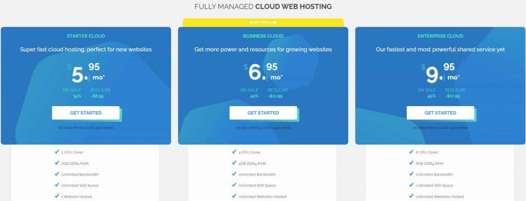TMD Cloud Hosting Pricing