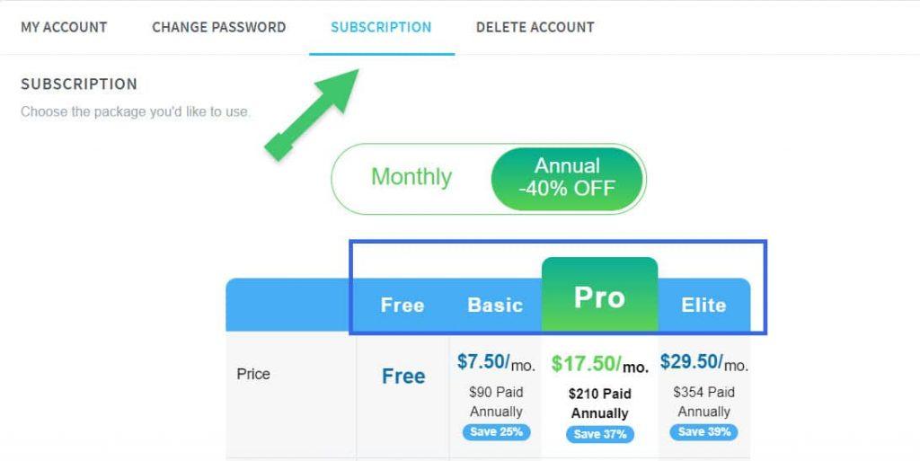 Choose Subscription