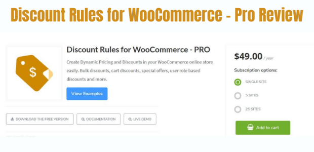 Discounted Rules for WooCommerce Pro Review