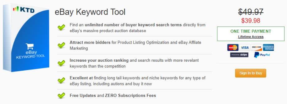 eBay Keyword Tool Discount