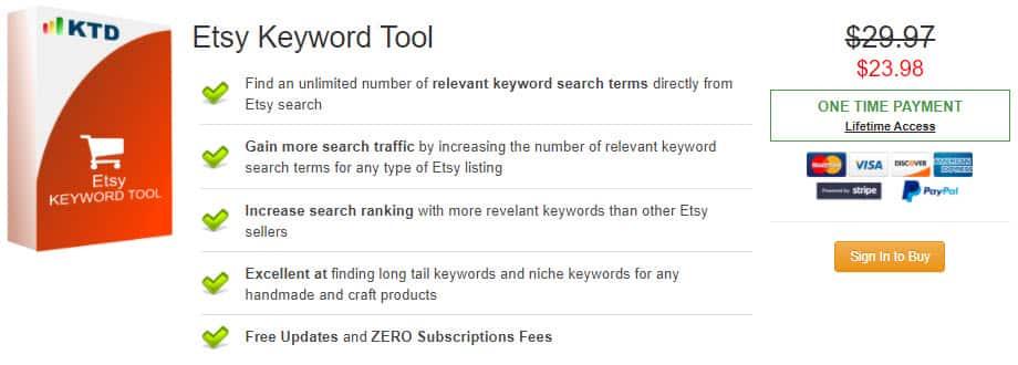 Etsy Keyword Tool Discount