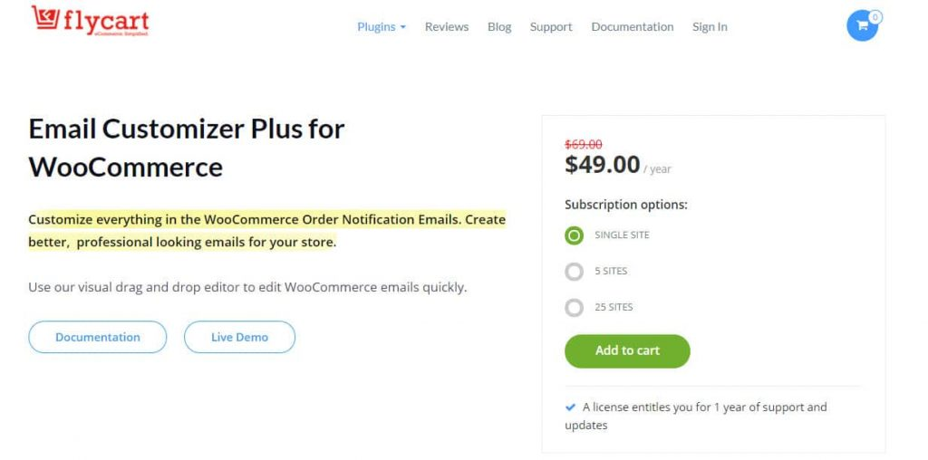 FlyCart Email Customizer For WooCommerce