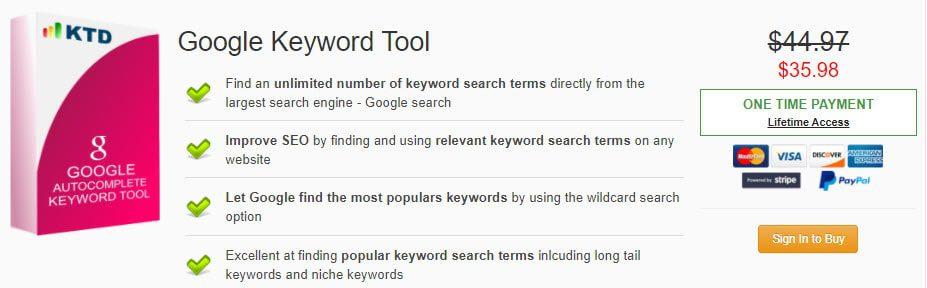 Google Keyword Tool Discount