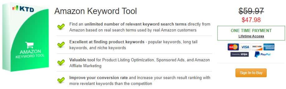 Amazon Keyword Tool Discount