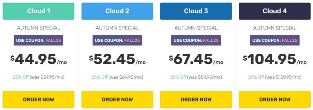 FastComet Cloud VPS Hosting Plans