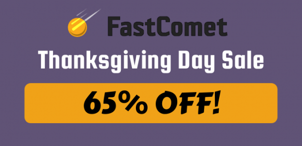 FastComet Thanksgiving Day Sale